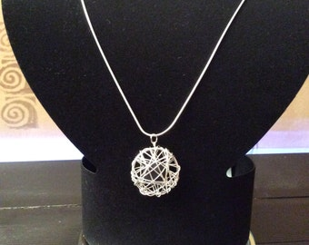 Basket pendant necklace