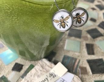 Hypoallergenic Bee Happy Leverback Dangle Earrings | Hello, Beautiful Earrings