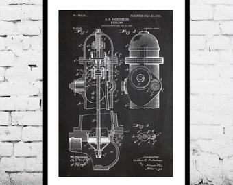 Fire Hydrant Patent, Fire Hydrant Poster, Fire Hydrant Blueprint,  Fire Hydrant Print, Fire Hydrant Art, Fire Hydrant Decor