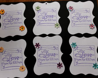 Assorted Gift Tags- With Love From the Kitchen of