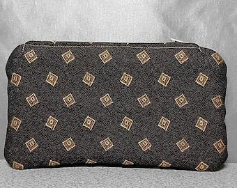 Zipper Pouch Small Clutch Pouch Wallet Unisex Tie Print Geometric Shapes