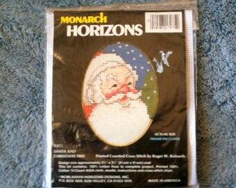 Jahrgang Monarch Horizonte gezählt Cross Stitch Christmas Ornament Santa und Weihnachtsbaum Ornament Hand gemacht Ornament Urlaub Dekoration h43