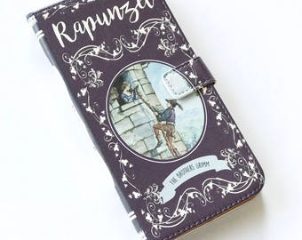 Rapunzel Gift, Rapunzel Phone Case, Rapunzel iPhone Case, Book Phone Case, Book iPhone Case, iPhone 8, 7, Wallet Phone Case