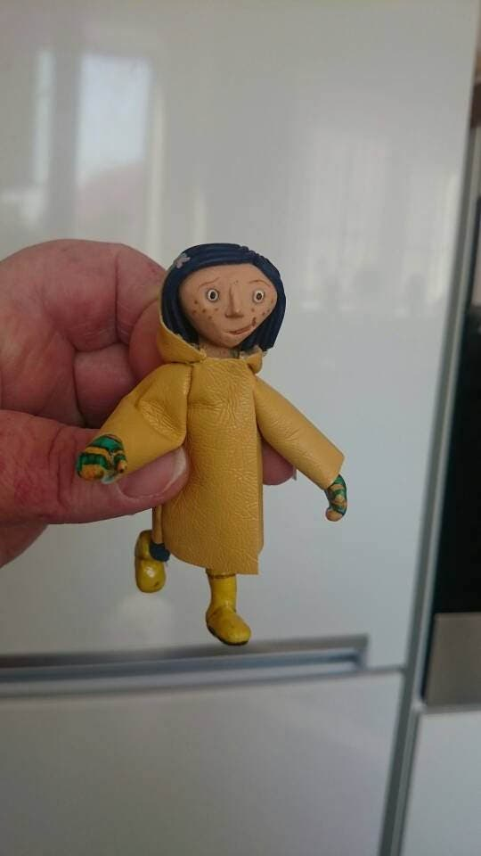 Miniature Polymer clay poseable girl doll sculpt sculpture character figure for collectors and toy and film geeks