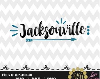 Jacksonville svg,png,dxf,cricut,silhouette,college,jersey,shirt,proud,cut,university,football,jacksonville,florida,arrow,decal,jaguars