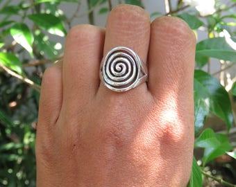 Bali Tribal 925 Silver Spiral Ring SR-271-DG