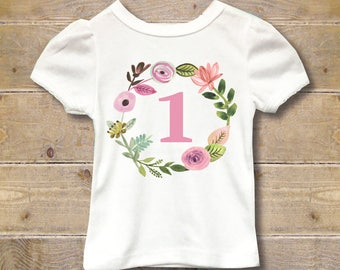 First Birthday Shirt, First Birthday Outfit, Girl's First Birthday Shirt, Girl's Shirt, 1st Birthday Shirt, 1st Birthday Outfit, Party Shirt