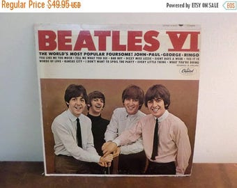 Vintage 1965 Vinyl LP Record Beatles VI Capitol Records T-2358 See Label Variation Very Good Condition 15055