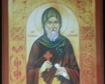 ORTHODOX ICON St. Finnan of Clanard
