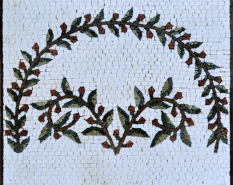 Greek Mosaic Pattern - Olive Branch