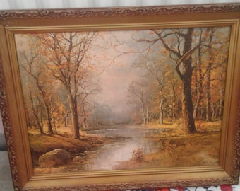Vintage Robert Woods Print on Canvas