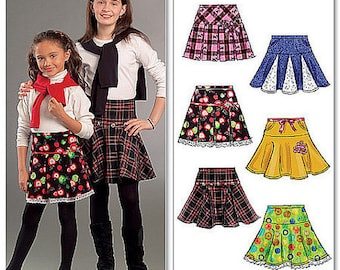 Children's and Girls' Skirt Pattern - Sizes 7-8-10-12-14 - Six Great Looks - One Easy Pattern - McCall's Pattern