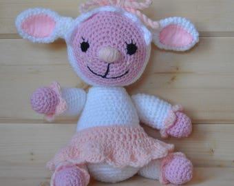 Sheep baby blanket: cuddly, sheep wool oeko-tex, birthday gift, toy doctor