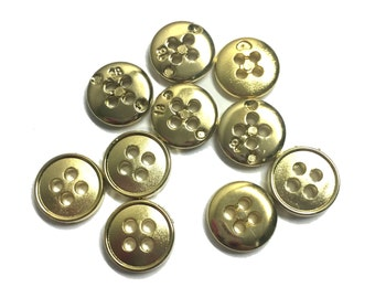 100 Pcs Small Gold Sew On Buttons  Fashion Crafts