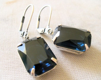 VALERIE Faceted Leverback Earrings. Will Arrive in a Branded Gift Box with Ribbon. Ships from USA.