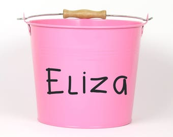 Personalized Name Pail - Choose The Color - Easter Basket Easter Bucket Easter Tin for Girls and Boys