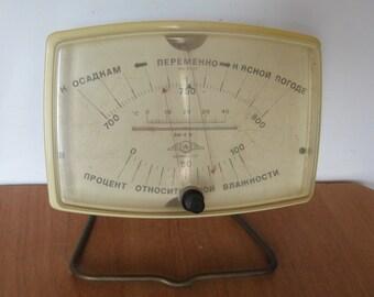 Vintage Soviet Barometer in Working Condition.