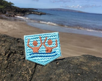 The Skinny Dip - Marriage Badge Add On - Merit Badge - Wedding Gift - Newlywed - Quirky Gift - Summer - Patch - Ocean - Swimming - Funny -