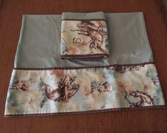 """Cow Roper Pillow Case Set    27.5""""x17"""""""