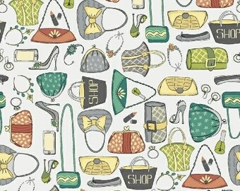 Girls Night Out Fabric / Purse Fabric by the Yard / Windham Fabric 43074-3  / Fat Quarter and Yardage