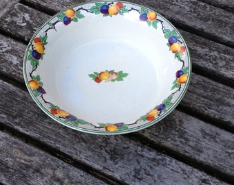Vintage Gibsons Vegetable / Serving Dish Bowl Harvest Fruit Pattern around the edge and in the centre. In Good Condition