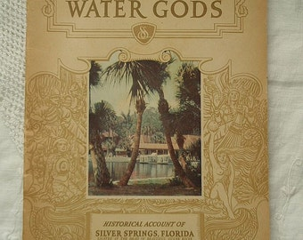 Vintage Travel Brochure 1944 Silver Springs Florida Shrine of the Water Gods Souvenir Pamphlet Great Photos Ocala