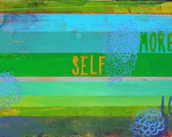 More Self Love Art on Wood Plaque