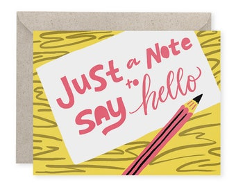 Just a Note A2 Greeting Card