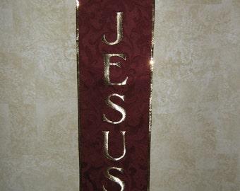 Jesus Bannerette Wall Hanging