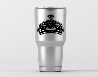 Princess Crown (Style 1) / Yeti Decal / Vinyl Decal / Yeti Tumbler Decal / Yeti Cup Decal / RTIC / ***Tumbler Available***