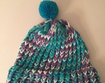 Toddler loom knit hat