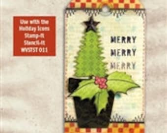 Holly and Berries Scrapbooking Embellishments- Wendy Vecchi Mat Mini