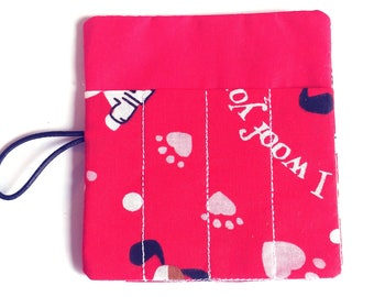 Valentine party favor - 4 count crayon roll - School Valentine's treat - Kids Valentines -Classmate gift - Valentine gift for toddlers