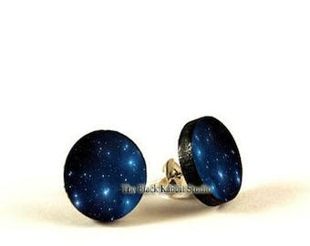 galaxy earrings nebula stud earrings