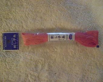 Sashiko Embroidery Thread/Rose Pink /22 yds