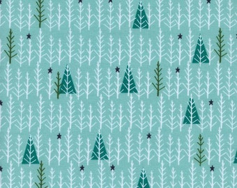 Tree Day (Mint) - Garland - Collaborative (Alexia Marcelle Abegg) - Cotton + Steel - 1 Yard