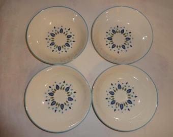 4 Vintage Swiss Chalet Marcrest Alpine Soup Cereal Bowls 6.75 inches Excellent Condition