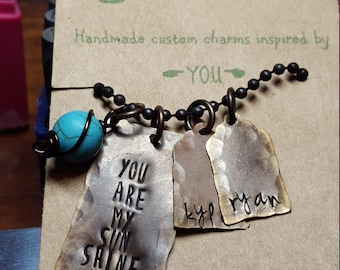 You are my sunshine mothers necklace