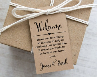 Welcome Thank You for Coming Tag - Welcome Gifts - Welcome Bags - Wedding Welcome - Welcome Tags - Event Tags - Custom Tags