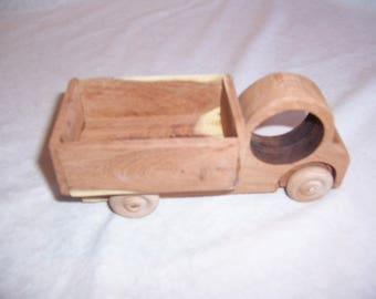 Truck Handcrafted from our Mesquite Tree Wood in our Yard.