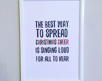 Elf Christmas Quote A4 Print