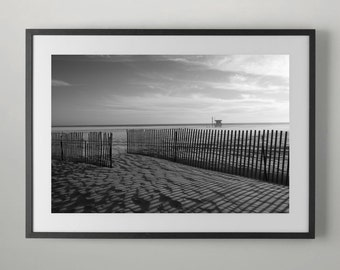 Lifeguard station on the beach Photography, Home Decor, Wall decor, Office Wall decor, Fine Art Photography