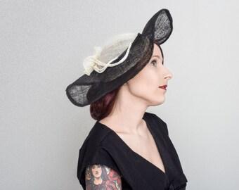 elegant sinamay hat
