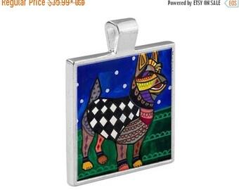 50% SALE- Australian Terrier Dog Jewelry - Pendant Metal  Gift Art Heather Galler Vegan Dog Animal Lovers