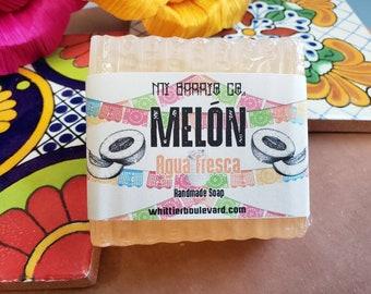 MELON ~ Cantaloupe Agua Fresca Soap ~ Bar Soap ~ Stocking Stuffer ~ Pan Dulce ~ Mexican