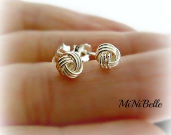 Sterling Silver Knot Earrings.  Knot Stud Earrings. Friendship Earrings. Bridesmaids Earrings. Wedding Jewelry