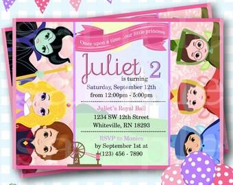 Sleeping Beauty Invitation, Disney Aurora Invitations, Sleeping Beauty Birthday Invitation, Princess Aurora Birthday Invite - P616