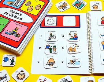 My First Picture Communication Schedule Book - 80 Picture Symbols - Velcro Included - Autism Book - Boy or Girl Version PECS