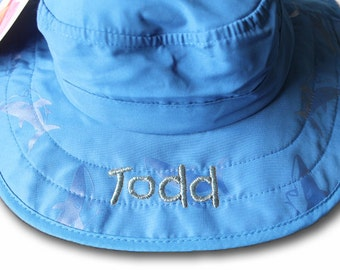 Personalized SPF sun hat for kids, child sun hat, kid's sun hat, safari hat, kids safari hat, kids spf hat, beach hat, personalized kid hat