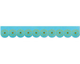 Sizzix Sizzlits Decorative Strip Die 12.625'X2.375'-Sunflowers